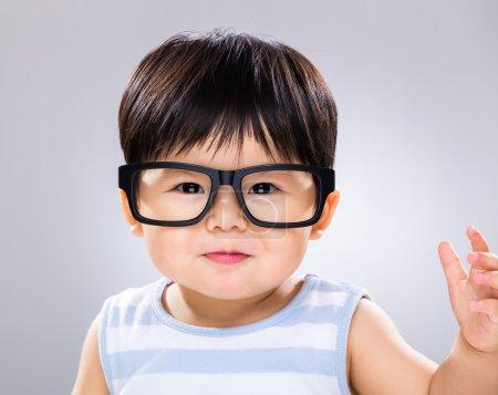 Asian cute little baby boy