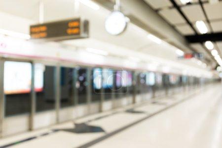 Foto de Desenfoque de fondo de la estación de tren - Imagen libre de derechos