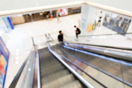 Defocused view from escalator