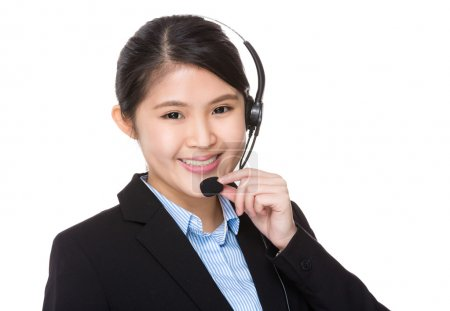 asian female customer services assistant
