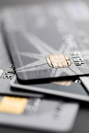 Photo for Close up of business credit cards - Royalty Free Image