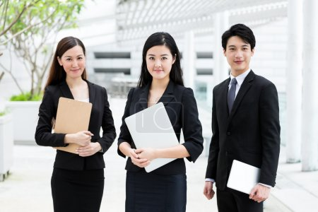 Confident asian business people at outdoor