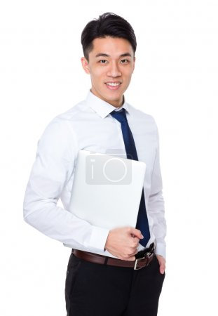 asian handsome businessman in white shirt