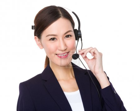 asian female customer services consultant