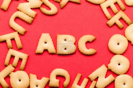 letters ABC cookie