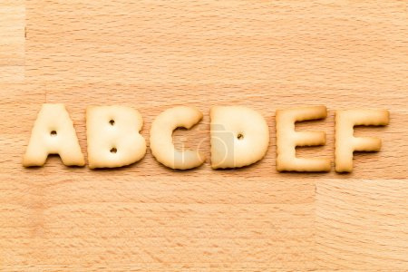 Letters ABCDEF cookie