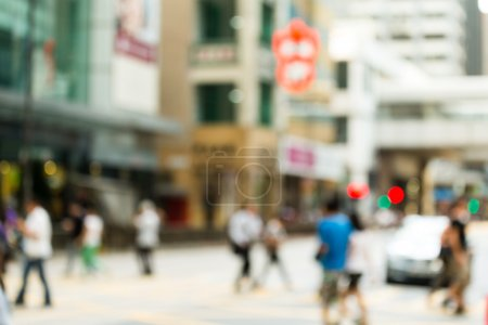 Photo for Blur view of Busy Hong Kong road - Royalty Free Image