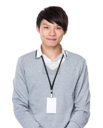 Photo pour Jeune asiatique homme d'affaires posant - image libre de droit