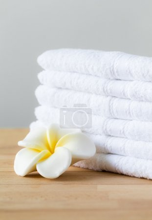 Aromatherapy spa plumeria and towels