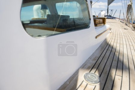 Planks of yacht deck