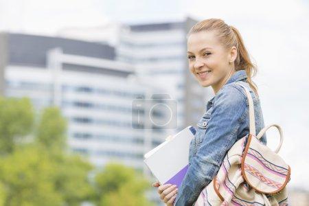 Student at college campus