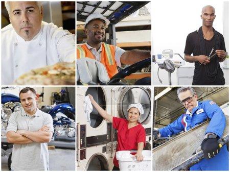 Photo pour Collage de personnes ayant différentes professions - image libre de droit
