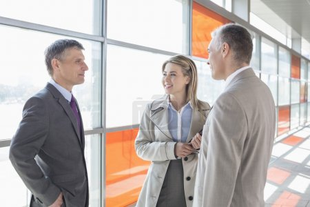 Businesspeople communicating