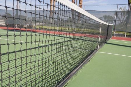 Photo for Tennis net on court, close-up - Royalty Free Image
