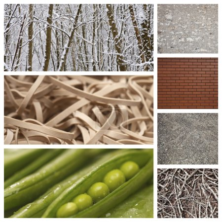 Photo for Collages of different textures - Royalty Free Image