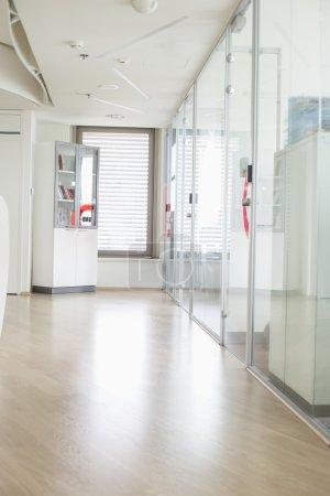 Empty hallway in office