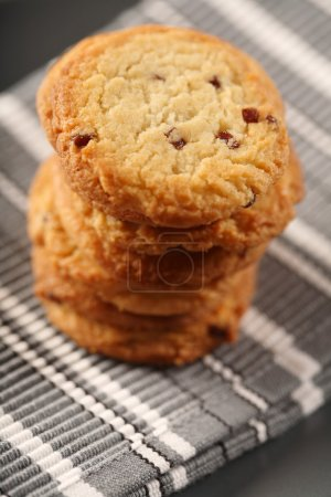 Photo for Sweet Cookies on cloth,  close -up - Royalty Free Image