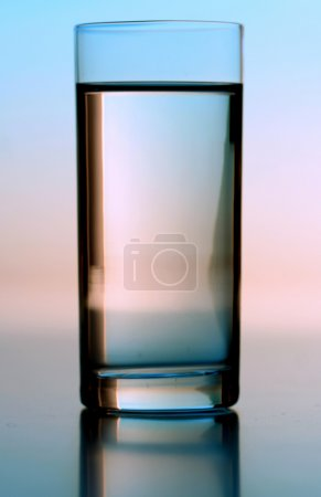 Photo for Studio shot of glass with crystal  water - Royalty Free Image