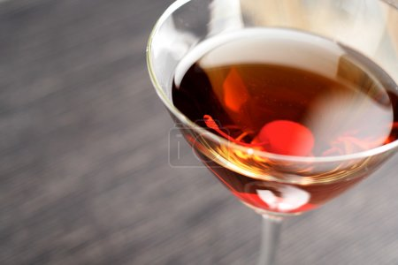Drink in martini glass