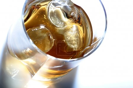 Crystal glass with whisky