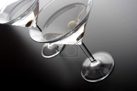 drinks in martini glasses