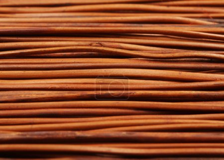 Foto de Textura de alfombra de madera marrón, primer plano - Imagen libre de derechos