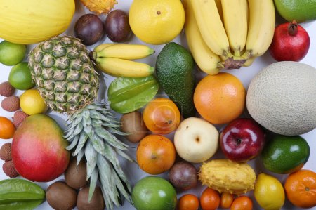 Photo for Composition of fresh  tropical  fruit - Royalty Free Image