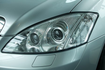 headlight of new car