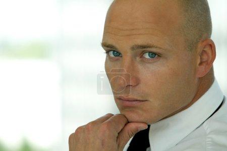 Caucasian businessman posing