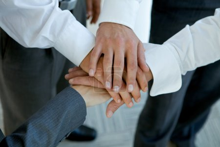 Photo for Business people group connecting hands - Royalty Free Image