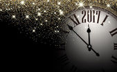 Vector illustration design of 2017 New Year clock