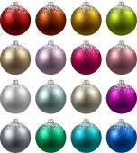 Set of realistic christmas balls