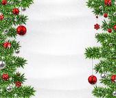 Vánoční pozadí s smrkové větve