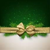 Vánoční pozadí se zlatým lukem