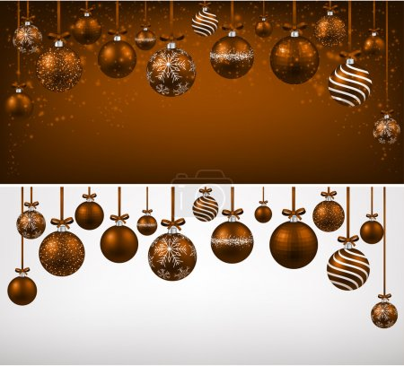 Arc background with brown christmas balls.