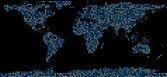 Mapa světa složená z teček
