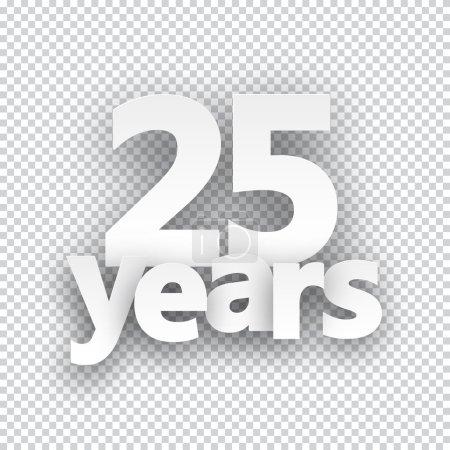 Twenty five years paper sign.