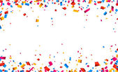 Confetti celebration frame background