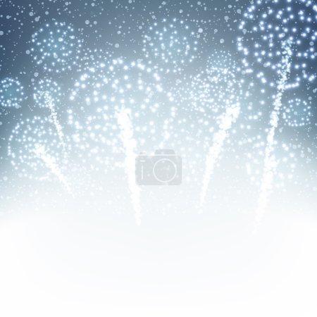 Festive fireworks background