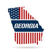 Georgia Stars and stripes Map