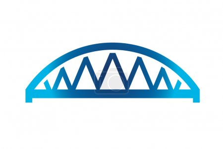 Blue Curved Bridge Icon...