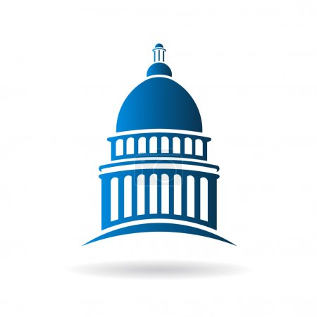 Vector Capitol building icon...