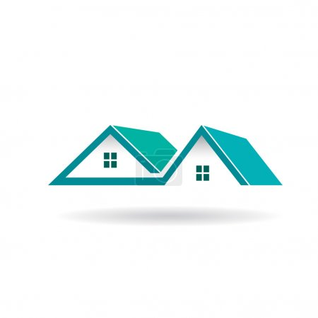 Illustration for Houses and Roofs logo - Royalty Free Image