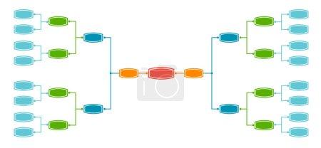 Bracket tournament 16 teams illustration