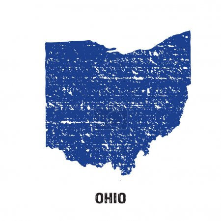 Ohio grunge seal map logo...
