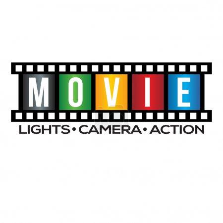 Movie Film Strip Logo