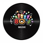 80s Music discography Vector Illustration