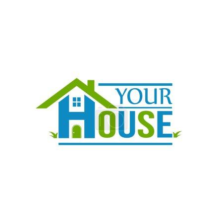 Illustration for Your house logo marketing - Royalty Free Image