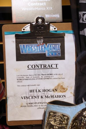 WWE Legend Hulk Hogan vs. WWE Owner Vincent K McMahon contract for match