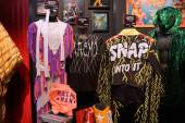WWE Legend Macho Man outfit and photo displays at WWE Axxess eve